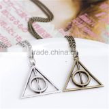Collier Femme Deathly Hallows Luna Death Necklace Collares Boho Chic