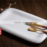 Industry ceramic dinner set white dessert rectangular dinner plate for restaurant weddings