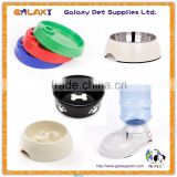 wholesale portable pet dog foldable bowl; water dispenser fountain bottle head; melamine pet bowl