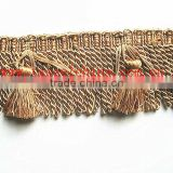 100% Polyester Bullion Fringe For Decorative Sofa Fabric