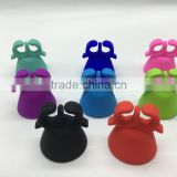 Wholesale Fashion Shape customized logo Ring Wearable Nail Polish Bottle Silicone Holder