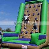 2015 hot funny inflatable rock climbing wall
