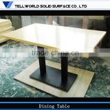 Wholesale! 2 and 4 seats standard size small modern restaurant tables artifical marble top