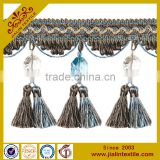Tassel fringe rayon material acrylic crystal bead tassel fringe decorative trim for curtain