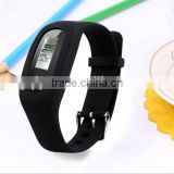 Wholesale Pedometer digital watch analog face and digital led watch booking wrist watch at low price