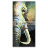 High Quality Canvas Art Colorful Home Decoration Elephant Animal Elephant Animal Handmade Modern Oil Painting