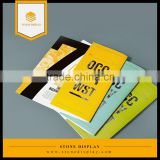 Low cost top quality glossy art paper cheap custom printing folder/catalog