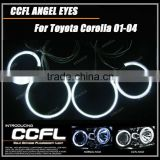 4 Rings 105MM & 125MM and 2 Inverters Halo ring lights CCFL Angel Eye for Corolla 01-04