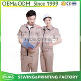 Wholesale technican industrial worker uniforms high quality short sleeve engineer worker uniform