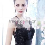 Simple O-neck Black Short Lace Bridesmaid Dress Maid Of Honor Dress ZY561