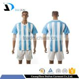 Daijun oem high quality 100% polyester breathable latest reversible football jersey jerseys designs youth soccer uniforms sets
