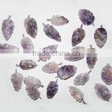 Amethyst Wire Wrapped Arrowhead Pendants