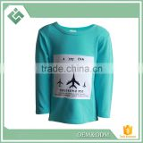 Breathable 100% organic cotton material children T-shirt baby clothes