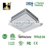 2015 New DLC Listed recessed mount LED canopy,5 years warranty