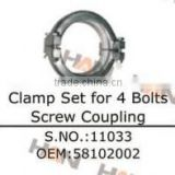 clamp set for 4 bolts screw coupling Concrete Pump spare parts for Putzmeister Sany SCHWING stetter