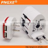 PNGXE Dual USB Charging Port Kit Universal Travel Adapter with Collapsible Plugs(US,UK,EU,AU) AD-113