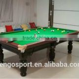 2016 best selling Solid Wood 8ft high quality billiard pool snooker games table
