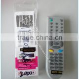 new abs case LCD LED universal remote control unit for LLGG RM-609CB with single blister box package