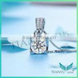 Wholesale Silver Necklace Jewelry 8 Hearts & Arrows Super White Moissanite Pendants Charms