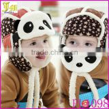 New Arrival Lovely Panda Hats Baby Kids Caps Aviator Hat Bomber Winter Cap Children Masks Warm Hat