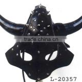 Medieval Leather Armor Viking Horned Helmet