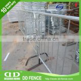 Plastic pvc coated removable bridge feet barrier