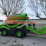 3.5 m3 Diesel Concrete Mixer 4X4 Mixer Self Propelled Self Loading Mixing Small Concrete Mobile Truck for Sale