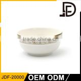 Eco-Friendly banquet hotel crockery white ceramic porcelain dinner bowl