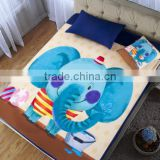 100% cotton cartoon printing super soft baby crib fitted sheet
