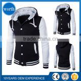 2017 Custom Made Men Stylish Hoodie Lastest Design Two Colors Sweaters With Button Wholesale Baseball Jacket Hoodies