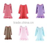 wholesale children's boutique clothing gown designs pajamas baby night dress