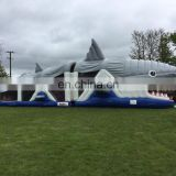 2017 high quality new design giant Inflatable shark obstacle course for sale