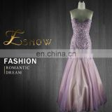 2016 Chaozhou Wholesale Graceful Applique Beaded Mermaid Latest Evening Dress for Ladies