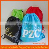 custom promotional drawstring wine bag