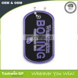 Custom Printed Cheap Printed epoxy coated logo enamel Aluminum metal dog tag backside laser engraving logo