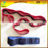 Hot sale elastic yoga strap,yoga elastic band, Stretch Training Strap for grm