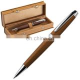 natural genuine leather metal ballpoint ball pen with gift box RB17107