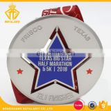 Hot Selling Spinning Marathon Finisher Medal with Sublimated Ribbon