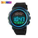 Low carbon environmental protection led wristwatch solar power watch