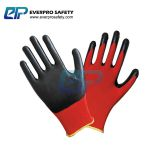 Oil resistant 13G Polyester Liner Nitrile Rubber Coated Work Gloves with EN388 4121X