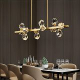 K9 Crystal Chandelier 12L LED crystal brass pendant lamp
