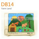 Wooden painting toys - Farm Land