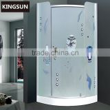 China Suppliers Bathroom Equipments Aluminum Curved Glass Cheap Freestanding Round Shower Enclosure