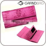 High quality ladies evening clutch bag crocodile pattern leather wallet massager bags for women