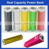 New design metal material round powerbank 2600mah with great price