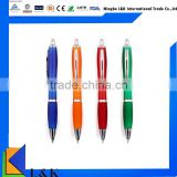 custom logo advertising ballpoint pen/plastic ball pen
