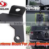 High quality stainless metal black antenna auxiliary mount bracket for jeep wrangler 2/4 doors 07-16 JK