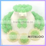 Mitaloo 2015 newest Nigerian Wedding Jewellery Sets Elegant Beaded Necklace For Women MT0002