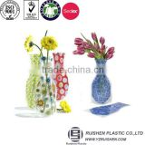 Vase Shape Bopp Printing Flower Holding Stand Bag With Bottom