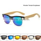 Newest Bamboo Sports Sunglasses Men Wooden Temple Sun glasses Women UV400 Mirror Original Wood Glasses